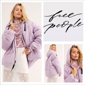 Free People Hailey Hooded Puffer Coat.  NWT.